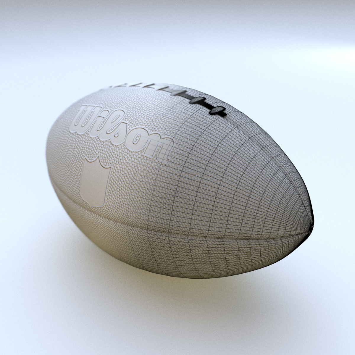 Original Football NFL Clay with Wireframe
