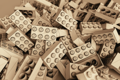 Lego Bricks Wireframe