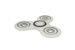Batman Fidget Spinner Wireframe Subsurface