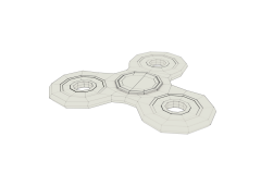 Fidget Spinner Wireframe