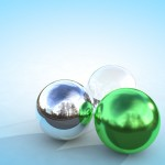 3 Kugeln mit HDRI Rendering in Cinema 4D